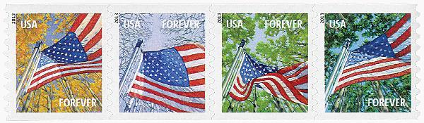 2013 First-Class Forever Stamp - A Flag for All Seasons (Avery Dennison, coil)