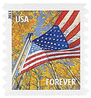 2013 First-Class Forever Stamp - A Flag for All Seasons: Autumn (Avery Dennison, coil)