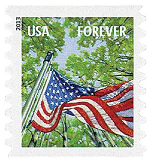 2013 First-Class Forever Stamp - A Flag for All Seasons: Spring (Avery Dennison, coil)