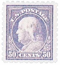 1916-17 50c Franklin, light violet