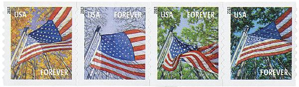 2013 First-Class Forever Stamp - A Flag for All Seasons (Ashton Potter, coil)