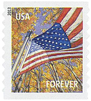 2013 First-Class Forever Stamp - A Flag for All Seasons: Autumn (Ashton Potter, coil)