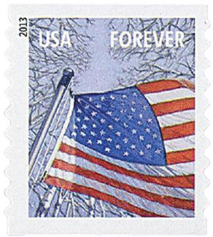 2013 First-Class Forever Stamp - A Flag for All Seasons: Winter (Ashton Potter, coil)