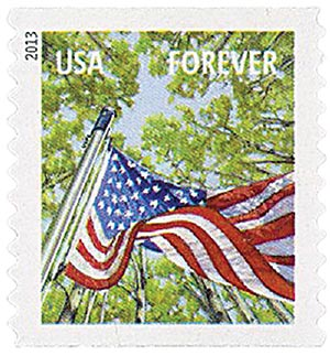 2013 First-Class Forever Stamp - A Flag for All Seasons: Spring (Sennett Security Products, coil)