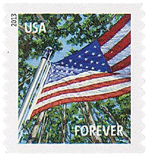 2013 First-Class Forever Stamp - A Flag for All Seasons: Summer (Sennett Security Products, coil)