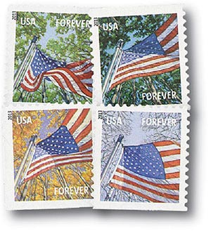 2013 First-Class Forever Stamp - A Flag for All Seasons (Ashton Potter, booklet)