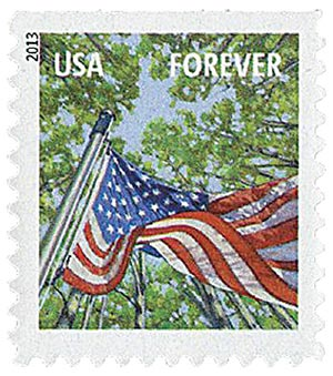 2013 First-Class Forever Stamp - A Flag for All Seasons: Spring (Ashton Potter, booklet)