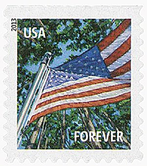 2013 First-Class Forever Stamp - A Flag for All Seasons: Summer (Ashton Potter, booklet)