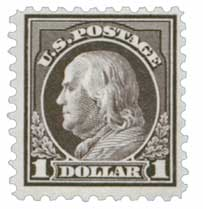 1916-17 $1 Franklin, violet black