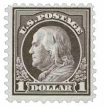 1916-17 $1 Franklin, violet black