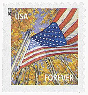 2013 First-Class Forever Stamp - A Flag for All Seasons: Autumn (Ashton Potter, booklet)