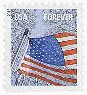 2013 First-Class Forever Stamp - A Flag for All Seasons: Winter (Ashton Potter, booklet)