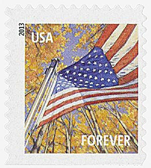 2013 First-Class Forever Stamp - A Flag for All Seasons: Autumn (Sennett Security Products, booklet)