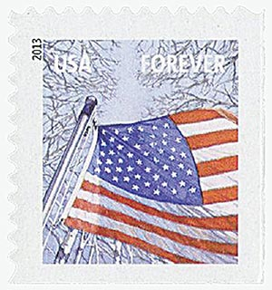 2013 First-Class Forever Stamp - A Flag for All Seasons: Winter (Sennett Security Products, booklet)