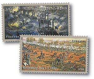 2013 First-Class Forever Stamp - The Civil War Sesquicentennial, 1863