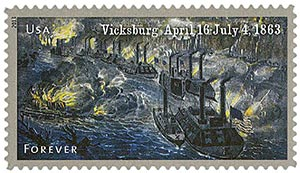 2013 First-Class Forever Stamp - The Civil War Sesquicentennial, 1863: Battle of Vicksburg