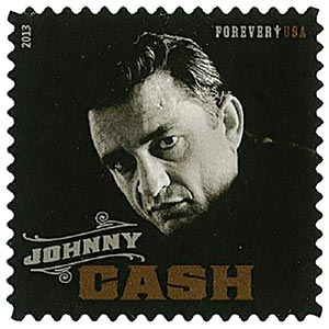 2013 First Class Forever Stamp Music Icons Series Johnny Cash For