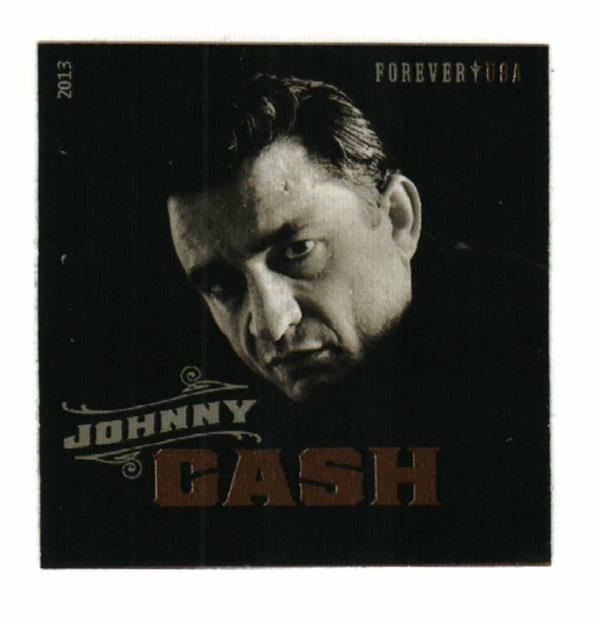2013 First-Class Forever Stamp - Imperforate Music Icons Series: Johnny Cash