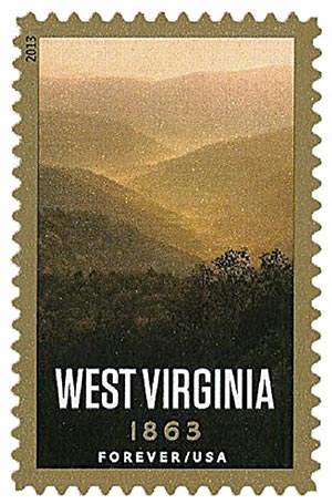 2013 First-Class Forever Stamp - Statehood: West Virginia Sesquicentennial