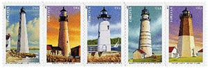 2013 First-Class Forever Stamp - New England Coastal Lighthouses