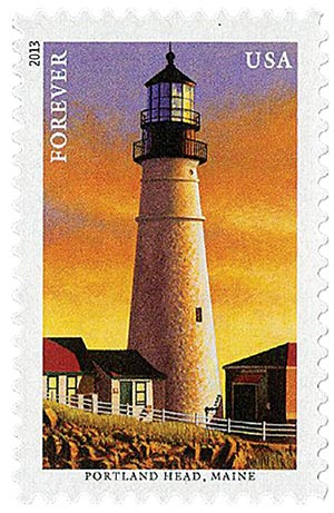 2013 First-Class Forever Stamp - New England Coastal Lighthouses: Portland Head, Maine