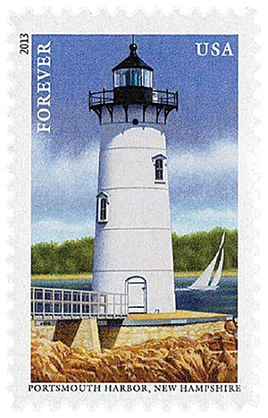 2013 First-Class Forever Stamp - New England Coastal Lighthouses: Portsmouth Harbor, New Hampshire
