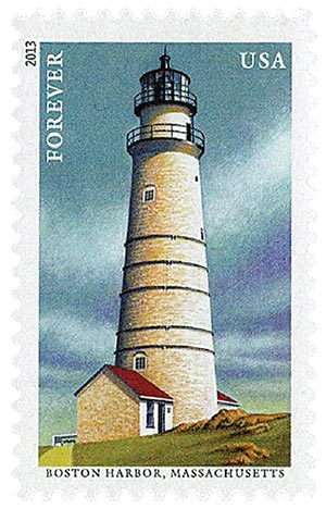 2013 First-Class Forever Stamp - New England Coastal Lighthouses: Boston Harbor, Massachusetts