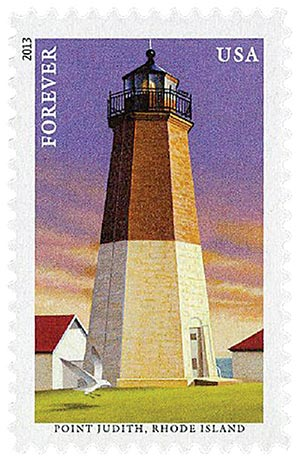 2013 First-Class Forever Stamp - New England Coastal Lighthouses: Point Judith, Rhode Island
