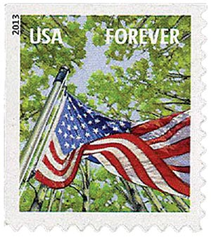 2013 First-Class Forever Stamp - A Flag for All Seasons: Spring (Avery Dennison, booklet)