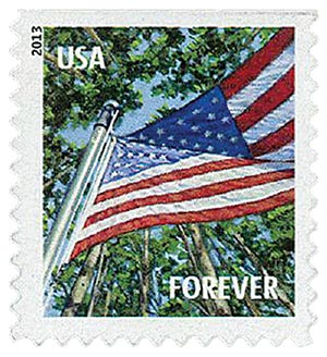 2013 First-Class Forever Stamp - A Flag for All Seasons: Summer (Avery Dennison, booklet)