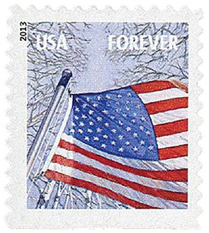 2013 First-Class Forever Stamp - A Flag for All Seasons: Winter (Avery Dennison, booklet)