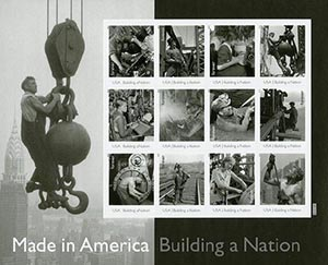 2013 First-Class Forever Stamp - Made in America: Building a Nation