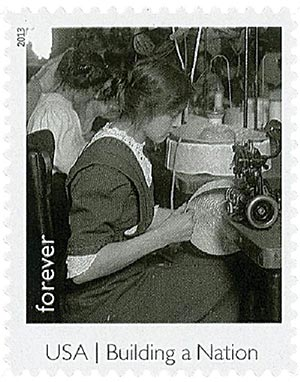 2013 First-Class Forever Stamp - Made in America: Millinery Apprentice