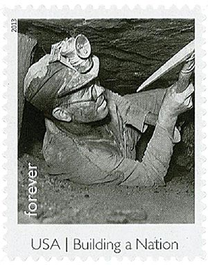 2013 First-Class Forever Stamp - Made in America: Coal Miner