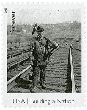 2013 First-Class Forever Stamp - Made in America: Railroad Track Walker
