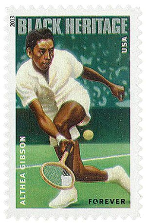 2013 First-Class Forever Stamp - Black Heritage: Althea Gibson