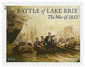 2013 First-Class Forever Stamp - The War of 1812: Battle of Lake Erie