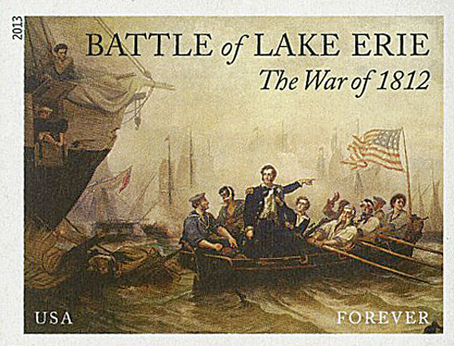 2013 First-Class Forever Stamp - Imperforate The War of 1812: Battle of Lake Erie