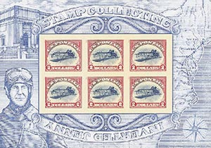 2013 $2.00 Inverted Jenny, sheet of 6