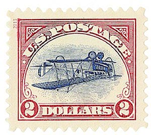 2013 $2 Inverted Jenny, single from pane