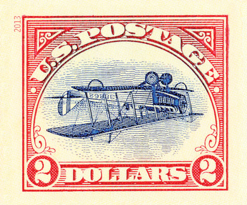 2013 $2 Imperf Inverted Jenny Single