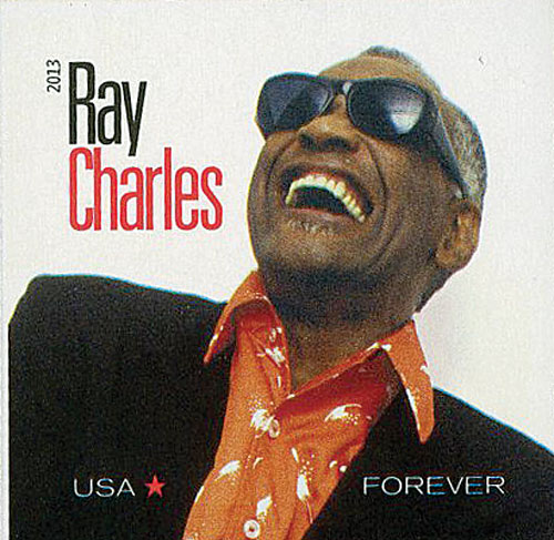 2013 First-Class Forever Stamp - Imperforate Music Icons Series: Ray Charles