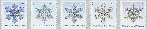 2013 10c Snowflakes