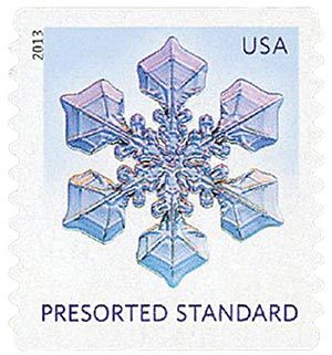 2013 10c Snowflakes: Wide Hexagon Tips