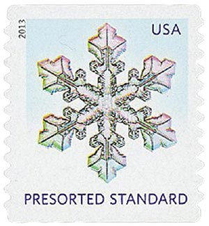 2013 10c Snowflakes: Wide Tips