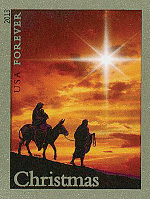 2013 First-Class Forever Stamp - Imperforate Holy Family