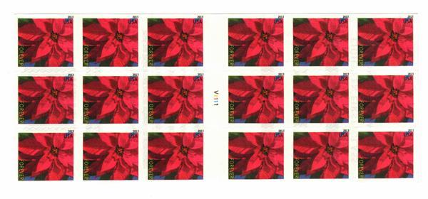2013 46c Poinsettia - ATM Bklt