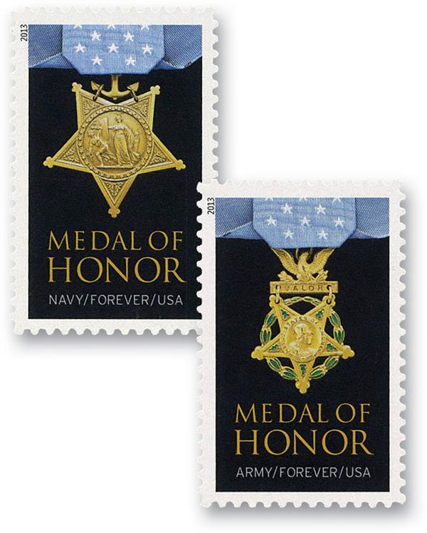 2013 First-Class Forever Stamp - The Medal of Honor: World War II
