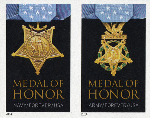 2014 First-Class Forever Stamp - Imperforate Medal of Honor: Korean War