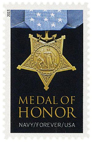 2013 First-Class Forever Stamp - The Medal of Honor: World War II - Navy